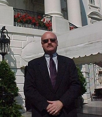 Tom Hughes, USSS Presidential Protection in front of Residence at White House.